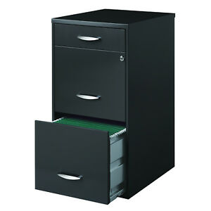 Porch Den Barry Square Ferris 3 drawer Charcoal File Cabinet
