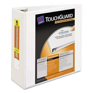 Avery Touchguard Antimicrobial View Binder With Slant Rings 4 inch Capacity