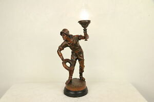 Sailor To The Rescue Antique Statue Newel Post Lantern Or Lamp 29677