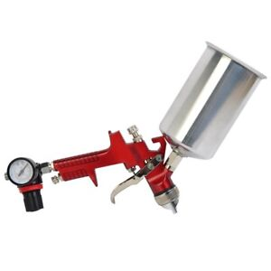 1 3mm Hvlp Gravity Feed Spray Gun Kit W Regulator Auto Paint Primer Metal Flake