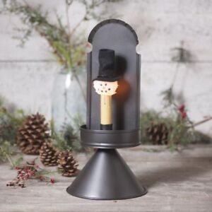 Colonial New Smokey Black Tin Cone Accent Light With Snowman Bulb