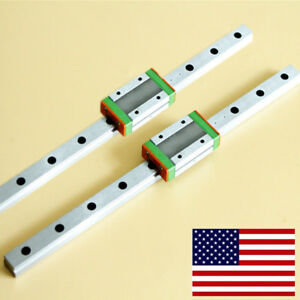 2 Set Mgn12 Linear Slide Rail Guide mgn12h Block For 3d Cnc Machine L250 550mm