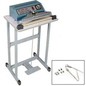 110v 12 Foot Pedal Impulse Sealer Heat Seal Machine Plastic Bag Sealing Machine