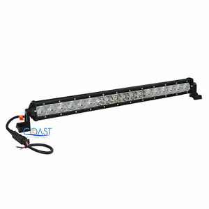 Slim Cree Led 20 90w Offroad 4x4 Truck Marine Flood Spot Light Bar Lamp Black
