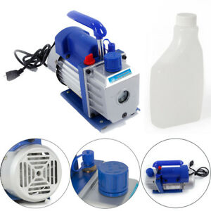 3cfm 1 3hp Rotary Vane Deep Vacuum Pump For Hvac Ac Refrigerant Charge