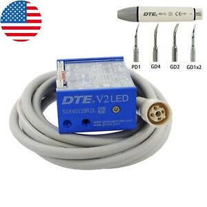 Usa 100 Woodpecker Ultrasonic Piezo Build in Scaler Dte v2 Led For Dental Unit