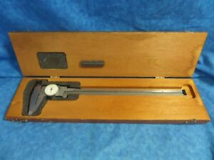 Starrett No 120 Stainless Steel Dial Caliper 0 12 W Box great Condition