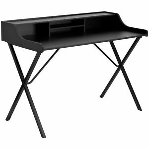 Copper Grove Hoxie Black Wood Computer Desk With Top Shelf