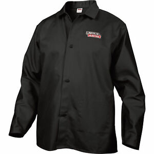 Lincoln Electric Flame retardant Welding Jacket L Size 32in Sleeves Black