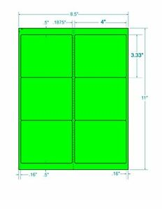 Laser Labels Shipping 600 Labels 4 X 3 333 Fluorescent Green Labels