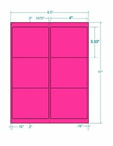 Laser Labels Shipping 600 Labels 4 X 3 333 Fluorescent Pink Labels