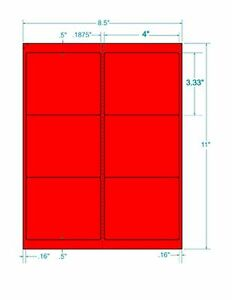 Laser Labels Shipping 600 Labels 4 X 3 333 Fluorescent Red Labels