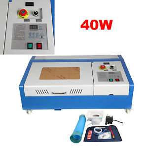 Refurbished 40w Co2 Laser Engraving Cutting Machine 300x200mm Engraver Cutter