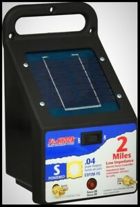 Fi Shock Electric Fence Energizer Solar Powered Portable 2 Mile Wire Poultry Pen