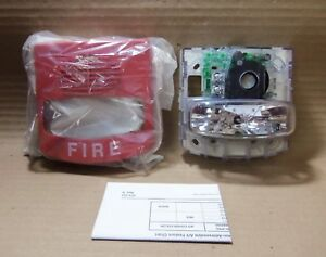 New Simplex 4903 9418 22 29v Horn And Strobe Red Fire Alarm