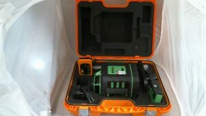 Johnson Self leveling Rotary Laser Level W greenbrite Technology 40 6543 new Ot