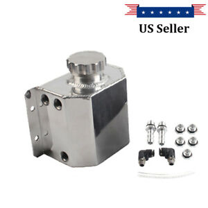 Universal Aluminum 1l Coolant Radiator Overflow Recovery Water Tank Bottle New