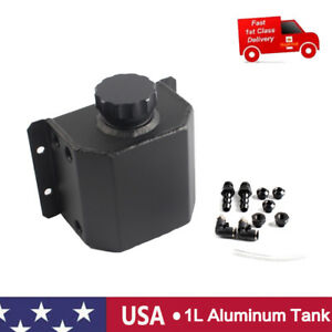 1l Aluminum Radiator Coolant Overflow Bottle Recovery Water Tank Polished Us Pro