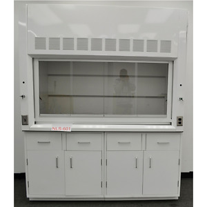 6 Chemical Fume Hood With Epoxy Top Valves Light Valves Two Cabinets