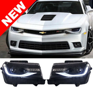 2014 15 Chevy Camaro Halogen Headlights Led Sequential Signals Running Lt Zl1
