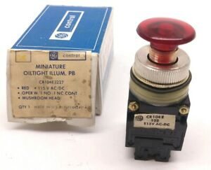 In Box General Electric Cr104e3227 Mini Oil tight Illuminating Push Button