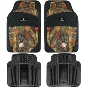 4pc Set Kings Camo Real Tree Camouflage Car Truck All Weather Rubber Floor Mats