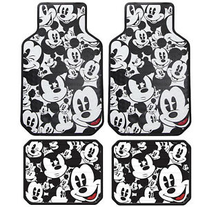 New Set Mickey Mouse Expressions Car Truck Front Rear Rubber Vinyl Floor Mats