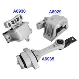 Transmission Engine Motor Mount Kit For Vw Beetle Golf Jetta 1 8l 2 0l New 3pcs