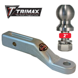 Trimax Razor Aluminum 2 Drop Mount Draw Bar Receiver W 2 Stainless Tow Ball