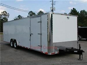 New 8 5x28 8 5 X 28 Enclosed Cargo Carhauler Trailer