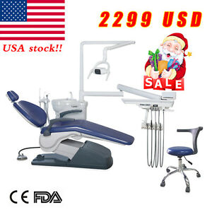 Dental Chair Unit Computer Controlled 110v Doctor Mobile Stool Hard Leather Usa