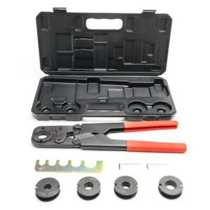 Pex Crimper Kit Copper Ring Crimping Plumbing Tool 3 8 1 2 5 8 3 4 1 Case