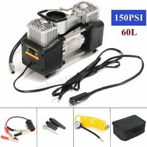 150psi 12v 60l Air Compressor 4wd Car Tire Inflator Portable Kit Pressure