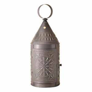 Colonial New 36 Blacken Punched Tin Tinners Floor Lantern Light