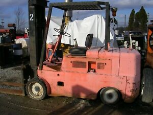 Forklift 10 000 Lb Gasoline Clark Utilitruc F163 Continental Engine Solid Tire