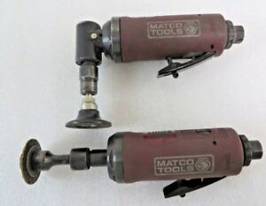 Matco Tools Mt1983 And Mt1980 Right And Straight Pneumatic Die grinders