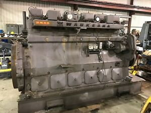 Vhp Engine Natural Gas Waukesha F2895gu 649 Hours 1200 Rpm 205002 Heads 500 Hp
