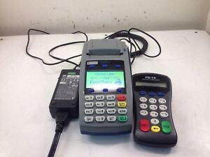 First Data Fd 50 Credit Card Terminal And Fd 10 Pin Pad
