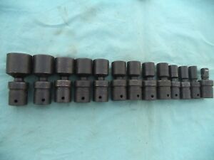 New Large Snap on 1 2 Swivel Impact Socket Set ipl Series 1 2 1 1 4 13 Pc