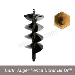 4 Earth Auger Bits For Gas Powered Post Hole Digger Wide Skid Steer Drill