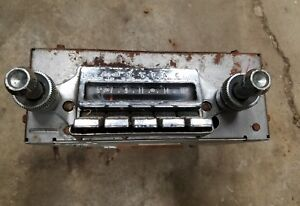 1962 Pontiac Am Push Button Radio Catalina Star Chief Bonneville Grand Prix