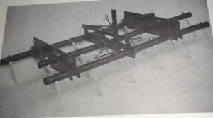 Case 3 Bar Spike Tooth Harrow For Field Cultivators Operators Parts Manual
