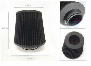 Black 3 5 89mm Cold Air Intake Cone Filter Universal Fit Fitment