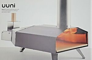 Uuni 3 Wood Fire Pizza Oven Stainless Steel W Pizza Peel Cover 40 Value new