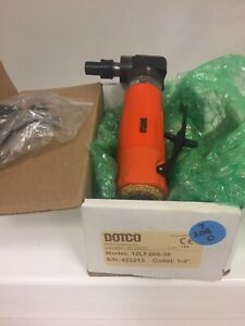 Dotco 12lf280 36 Pneumatic Angle Grinder 1 4 Collet 12000 Rpm Rear Exhaust
