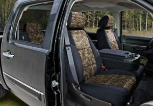 Coverking Digital Camo Custom Fit Seat Covers For Toyota Tacoma Black sand