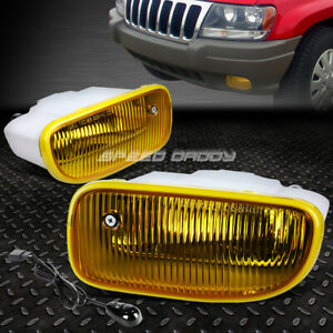 For 99 04 Jeep Grand Cherokee Wj Bumper Driving Fog Light Lamp W switch Amber