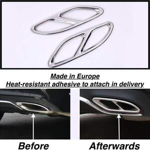 Chrome Rear Cylinder Exhaust Pipe Cover Trim Mercedes C class A205 Convert us