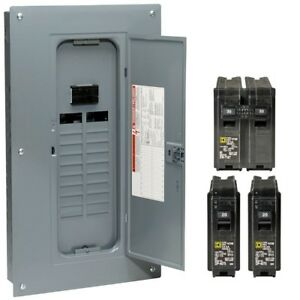 Main Breaker Load Center 100 Amp 20 Space 40 Circuit Plug on Neutral Cover Bar