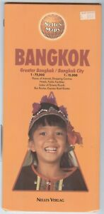 Nelles Maps Bangkok City And Greater Area Double Sided Printed In West Germany